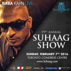 BABA KAHN Live at Suhaag Wedding Show Sun Feb 7th – GET FREE ACCESS HERE
