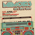 Memoirs is back Saturday April 30th inside Brand New Dream Restauraunt and lounge